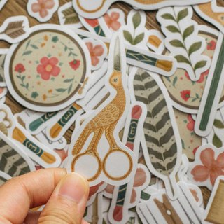 Vintage Supplies washi sticker sticker set 14pcs schedule