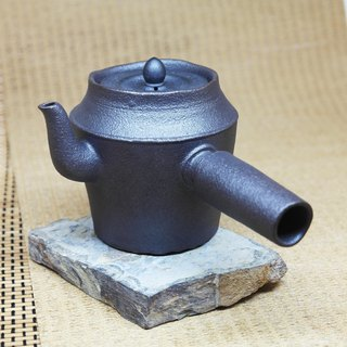 Mysterious urn shape three curved mouth side of the teapot hand pottery tea props