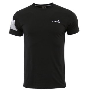 ✛ tools ✛ Slim round neck T-shirt # black :: :: comfortable skin-friendly breathable cotton ::