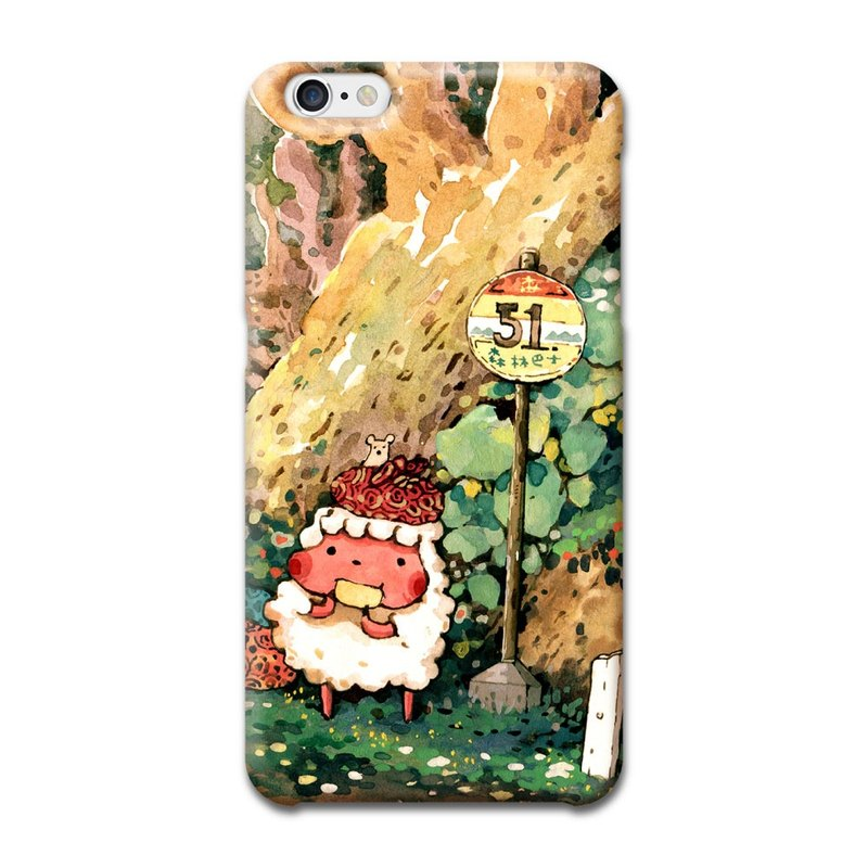 (Order to order) afu illustration mobile phone shell (hard shell) - iPhone6/6s-51 forest bus back home