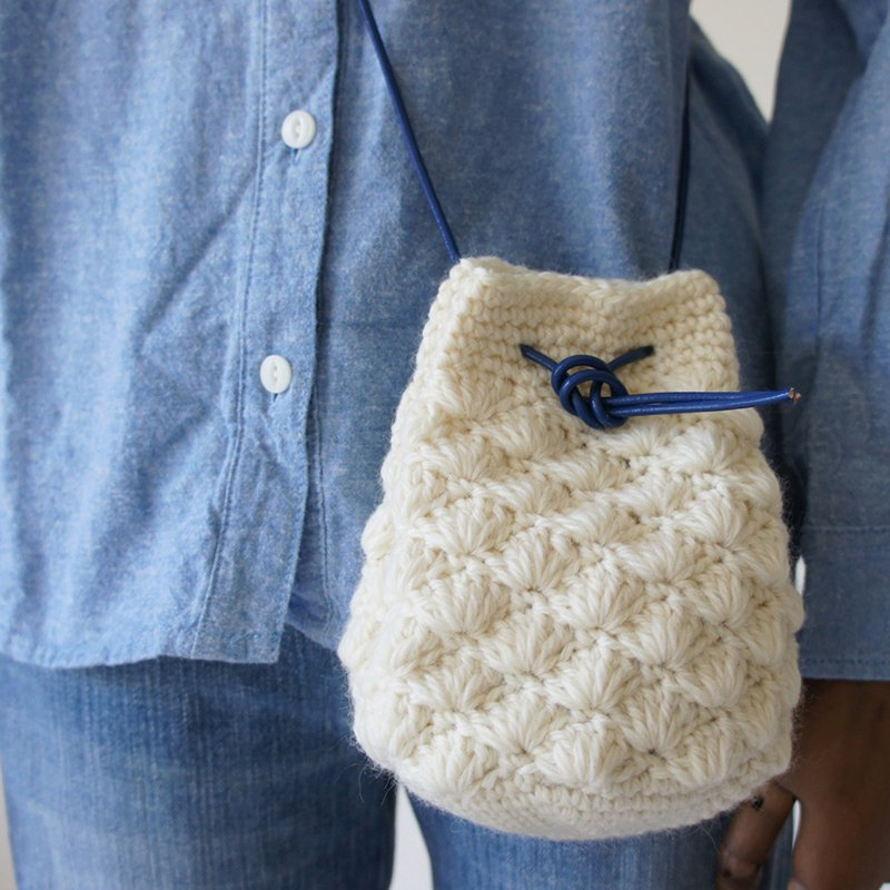 Ba-ba handmade  Crochet Drawstring bag with string  No.KP2