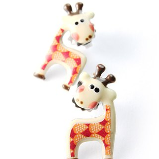【Paris, France TARATATA】 animal party series giraffe earrings