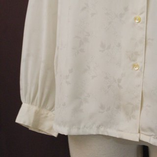 Vintage Japanese Elegant Simple Floral Printed Cloth White Long Sleeve Vintage Shirt Vintage Blouse