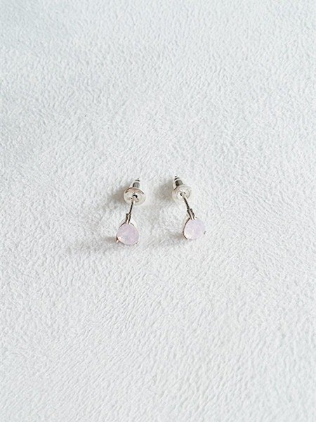 6mm pear-shaped glass/Pink/Water droplets/Earrings/Swarovski Crystal/Sterling Silver/By hand【ZHÀO】SZE1663