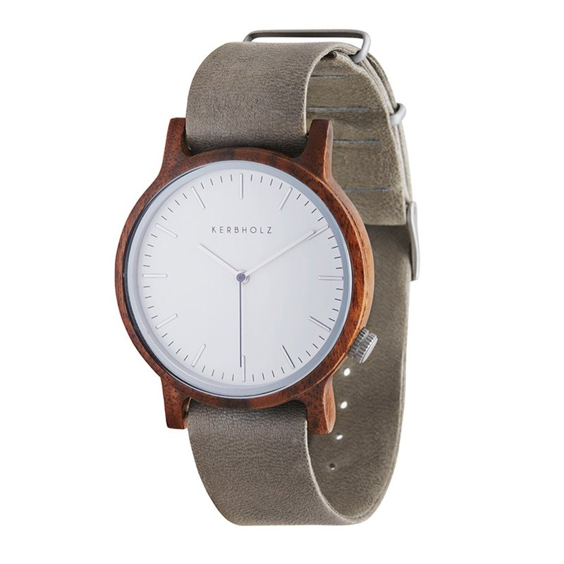 KERBHOLZ-Wood Watch-WALTER-Walnut-Mart (Neutral) (40mm)