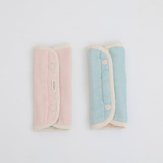 MARURU six-layer yarn strap saliva towel pink blue