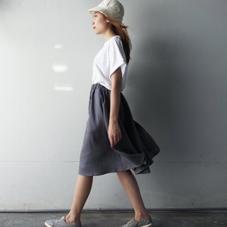 Linen Daily Skirt - Grey