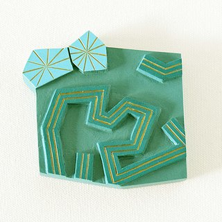 Artdeco Hand Mirror Mini (summer sun - retro green)