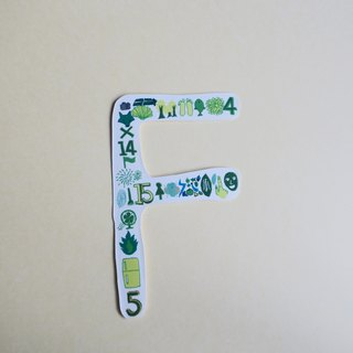 English alphabet stickers FJ