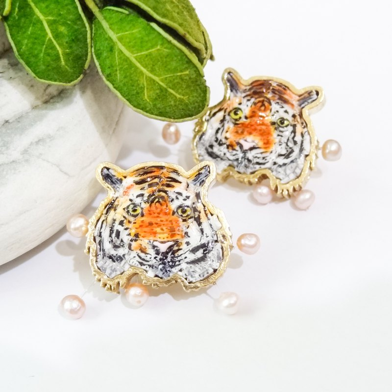 Mosaic Mosaic Series Mosaic Jane Tiger Yellow Earrings Order