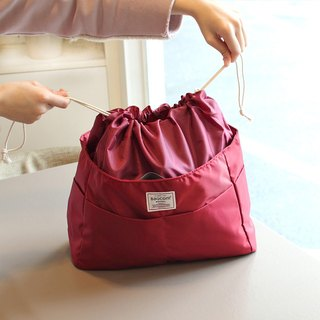 Big size-Backpack OK-INSIDE Bag Organizer-Dark red_100421-20