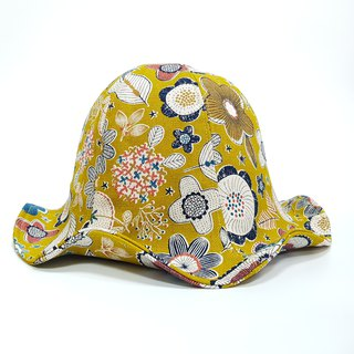 Large Lily Flower Hat - Flower Cluster (Yellow) 2018 Summer New Product # Sunscreen # Japan Fabric