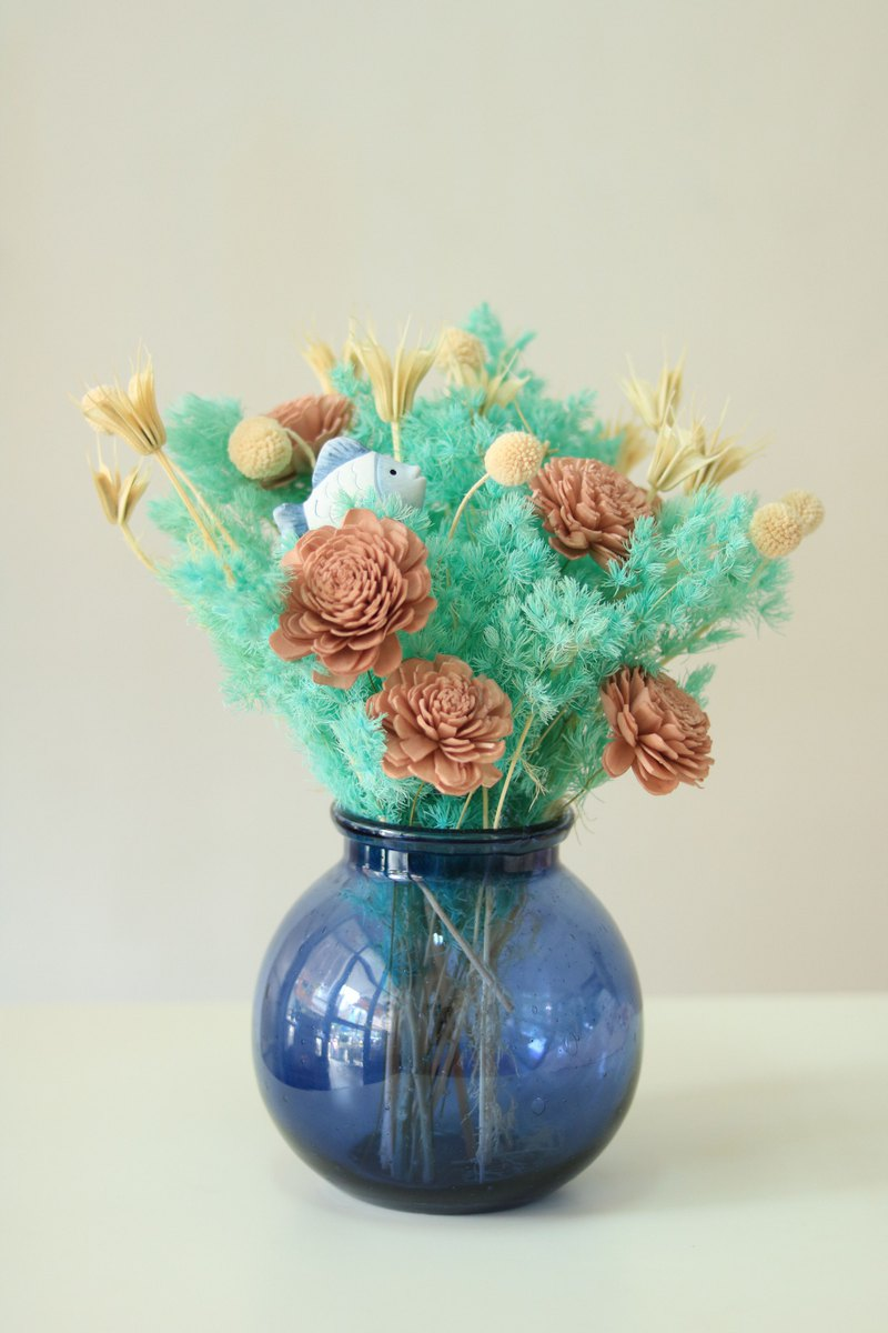 Ocean wind cute small fish dry bouquet (customized different theme bouquets)