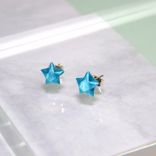 Cute Little Turquoise Lucky Star Handmade Earrings