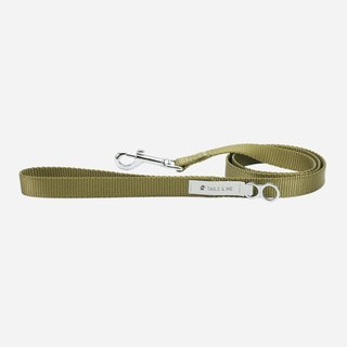 [Tail and me] classic nylon belt leash green
