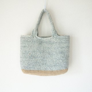 yuoworks / wool tote bag / light gray color /  A4size