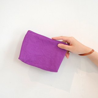 Kurashiki canvas clutch bag Dolce grape