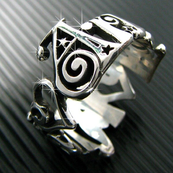 Customized .925 sterling silver jewelry name ring style RSNT00042-