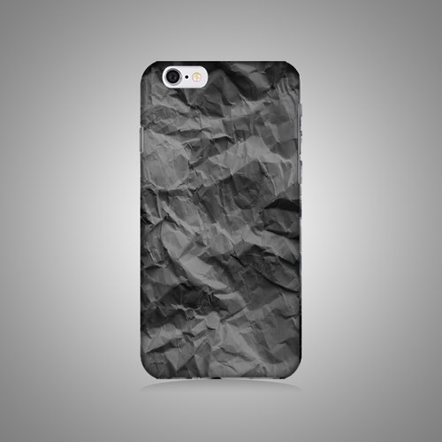 """Shell"" series - Black crumpled paper original phone shell / protective sleeve (hard shell) iPhone / Samsung / HTC / Sony / LG"