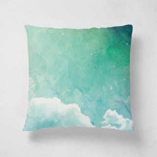 Above the sky | 40 * 40 short velvet pillow