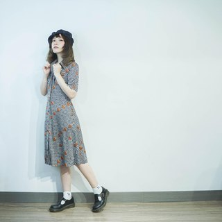Vintage II Japanese II 70's MOD Irregular Lapel Vintage Dress II