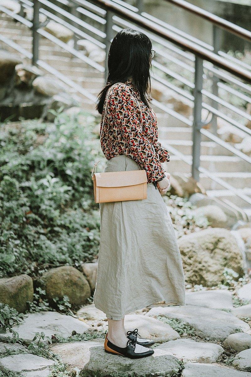 義大利Buttero皮革 手工縫製肩背包