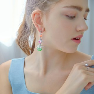 Bright Ocean Snowball Earrings
