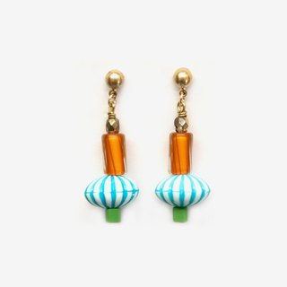Retro Circus Collection - Orange Candy Ball Earrings
