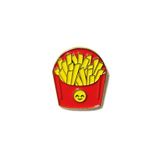 Happy Fries Emoji Pin