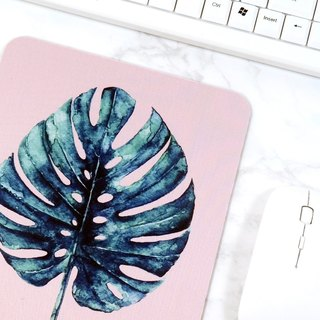 Pink Mouse Pad Leaf Mouse Mat Desk Accessories Office Decor For Women