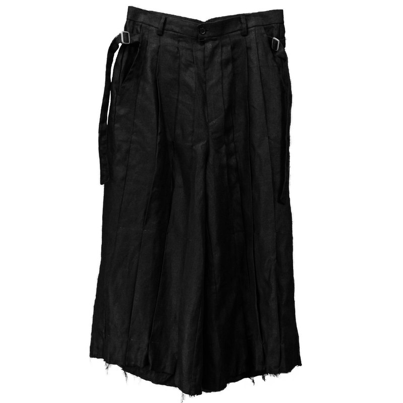 FRONT PLEATED WIDE PANTS