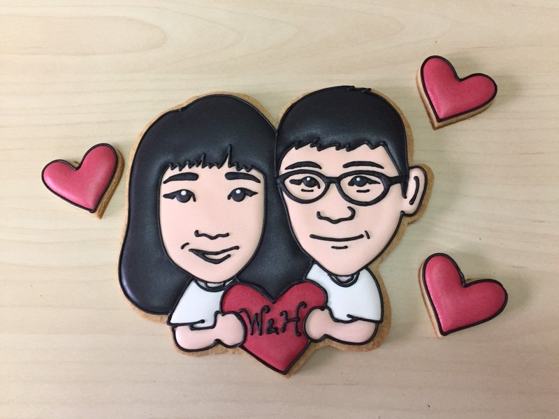 Large Valentine Portrait sugar cookie by anPastry