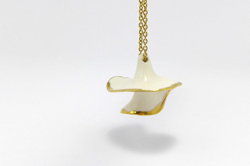 waves I handmade gold lust porcelain ceramic necklace accessories