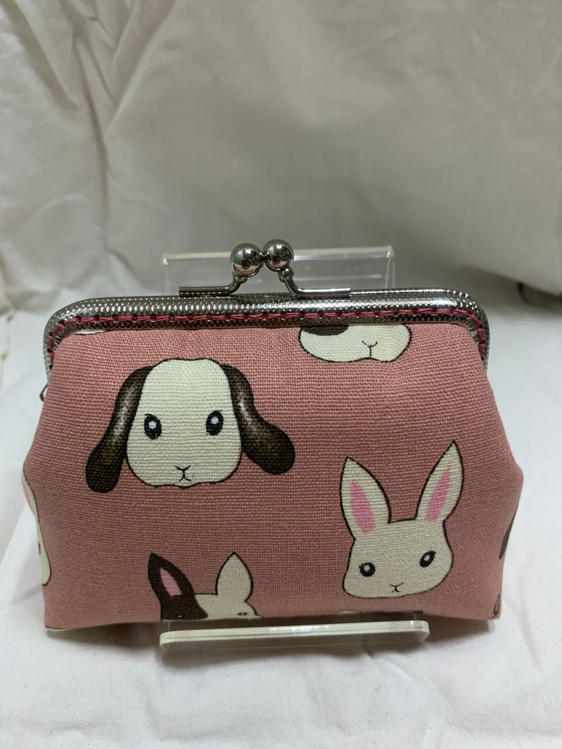 10CM square rabbit mouth gold coin purse
