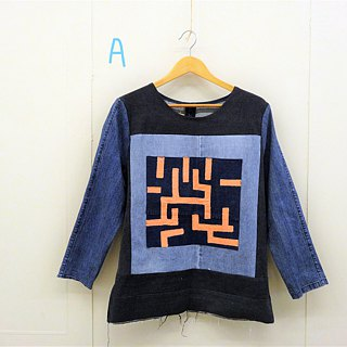 Upcycling MAZE denim top