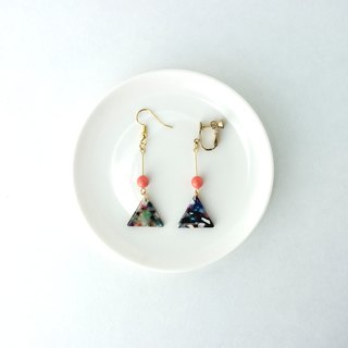 Circledot 焗 triangle earrings ear clip ear clip earrings