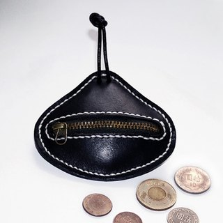 Avocado shaped leather coin purse