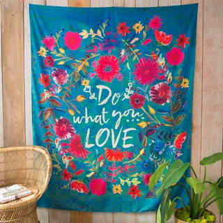 Wall hanging tarpaulin / alcove - Do What You Love | TPST016