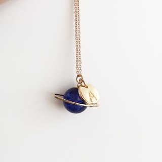 Blue Planet Personalized necklace Universal Saturn