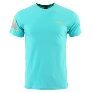 ✛ tools ✛ Slim round neck T-shirt # blue water :: :: comfortable skin-friendly breathable cotton ::