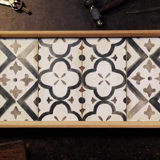 Tile tray - blossoming