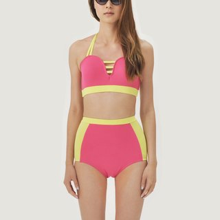 Love Pocket set - PinkYellow / swimwear / L