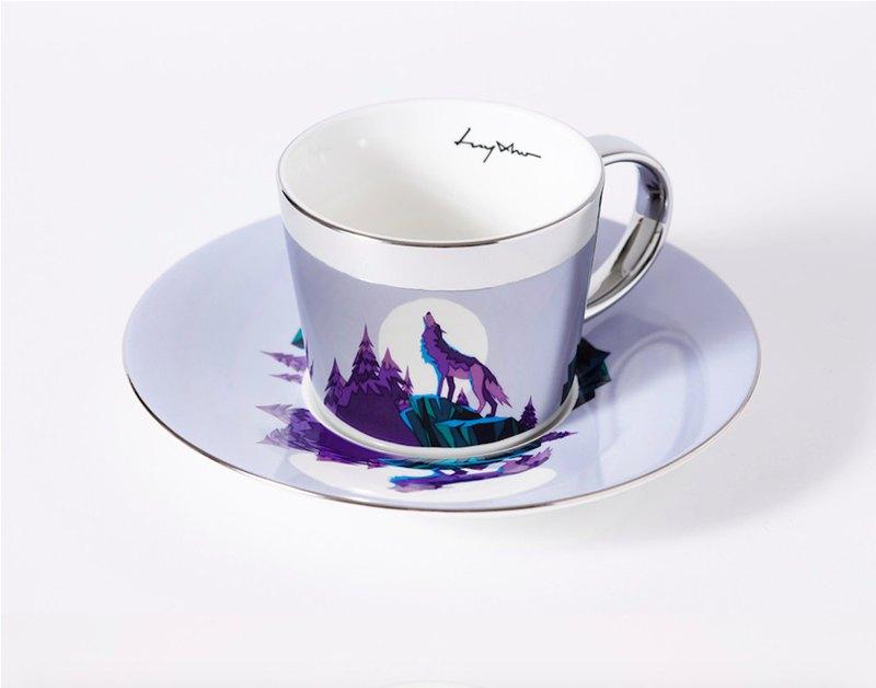 Luycho 鏡面倒影杯組 咖啡杯 _ 紫狼