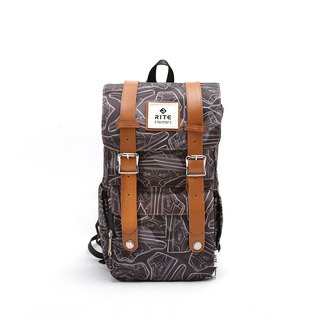 [Twin Series] 2018 Advanced Edition - Traveler Backpack (middle) - Camouflage Deep