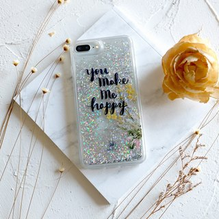 PATTERN LAB | Liquid Glitter Case for iPhone 6/6s/7/8 Plus - Happy