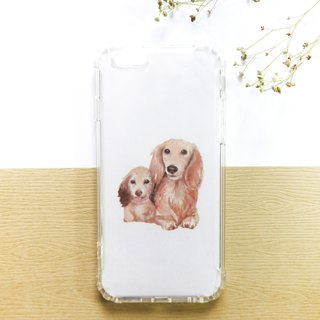 Home の dog | Double dog | Mobile phone case - Customized handwriting plus word anti-fall air pressure shell