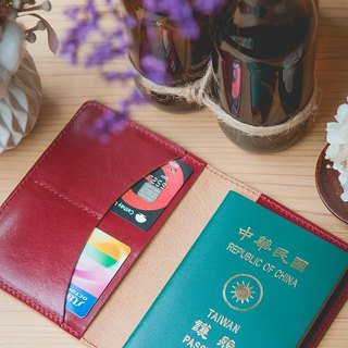 Leather hand made passport set passport can be tailor-made / male and female birthday preferred