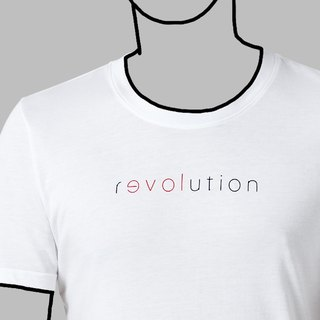 【White】Revolution for love T-Shirt / 100%cotton / Words for MIRROR only / MIT