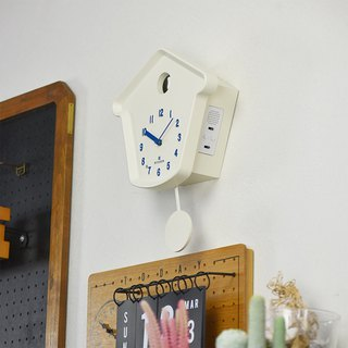 Dodeka- Little White House Cuckoo Time Swing Wall Clock