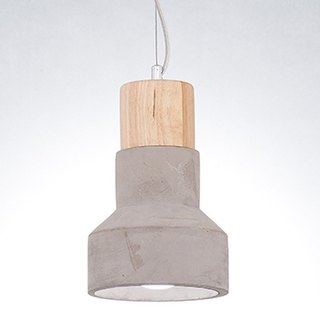 LOFT industrial wind cylinder clear water mold cement lampshade